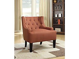Benzara BM166602 Wood & PolyFiber, Orange Accent Chair