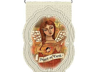 Heritage Lace Peace on Earth/Angel 14-Inch by 21-Inch Cafe Wall Hanging