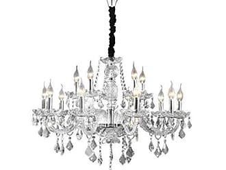 Wee Lustre de Cristal Maria Thereza para 15 Lâmpadas Wee Cromado