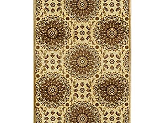 Home City Inc. Superior Marigold Collection Area Rug, Intricately Detailed Gold Medallion Pattern, 10mm Pile Height with Jute Backing, Affordable Contemporary Rugs - 5 x 8 Rug