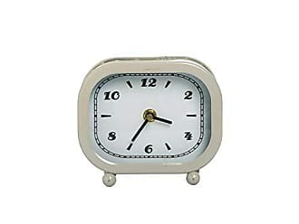 Foreside Home And Garden Footed Table Clock Beige