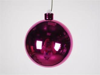 Queens of Christmas WL-ORN-BLKS-100-PI-UV WL-ORN-BLKS-100-PI-UV - 100mm Shiny Pink ball ornament w/wire