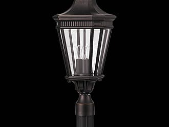 Feiss OL5407GBZ Cotswold Lane Outdoor Lantern in Grecian Bronze finish with Clear beveled glass shade
