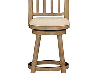 Boraam 76329 Sheldon Bar Height Stool, 29-Inch, Driftwood Gray Wire-Brush and Ivory Finish