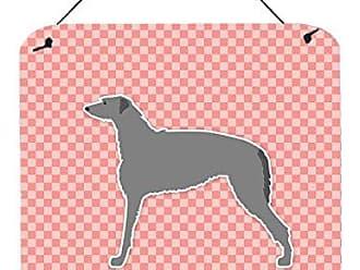 Carolines Treasures Checkerboard Pink German Shepherd Ceramic Night Light 6x4 Multicolor