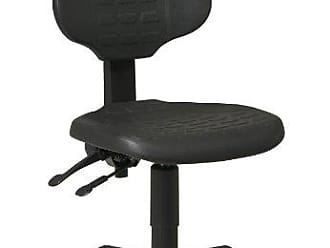 Office Star Ergonomic Urethane Chair with Seat Tilt and Back Angle Adjustment, Black