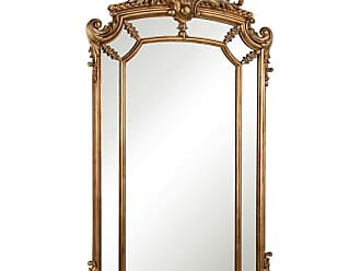 Elegant Furniture & Lighting Antique Wood Wall Mirror - 30W x 48H in. - MR-3344