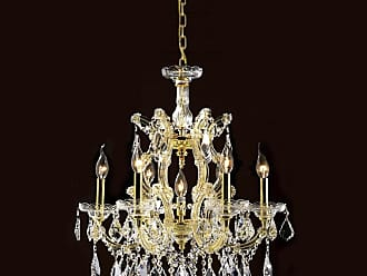 Worldwide Lighting W83075G22 Maria Theresa 7 Light 1 Tier 22 Gold