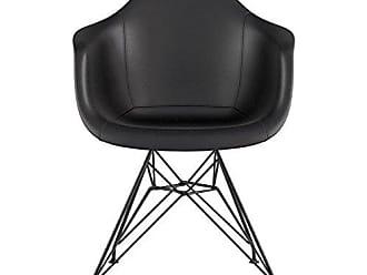 NyeKoncept 332009EM3 Mid Century Eiffel Arm Chair, Milano Black