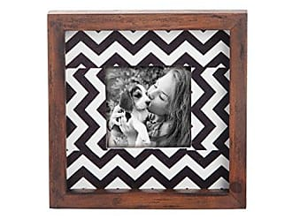 Foreside Home And Garden FFRD03760 Chevron Wood Picture Frame, 3 x 3