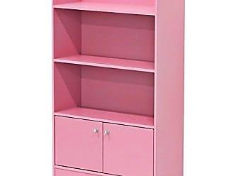 Furinno FR16121PK Stylish Kidkanac Bookshelf with Storage Cabinet, Pink