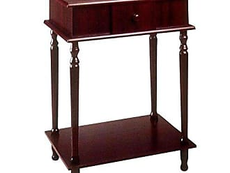 Ore International Frenchi Home Furnishing Rectangle Side Table, Cherry