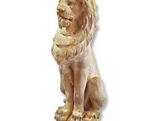 Orlandi Statuary Guardian Lion Garden Statue - F69809GUARDIANLIONLG
