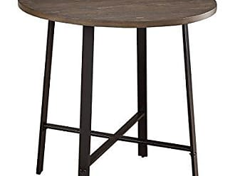 Homelegance Chevre 36 Round Industrial Style Counter Height Table, Brown