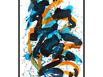 Ptm Images Flow 2 Framed Canvas Wall Art - 9-110633