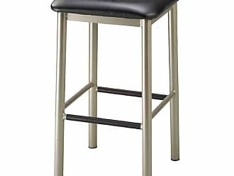 Regal Rodger 26 in. Square Backless Metal Counter Stool with Upholstered Seat Black - 1174U-26-ANODIZED NICKEL- BLACK