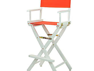 Yu Shan Casual Home 30 Directors Chair White Frame-with Orange Canvas, Bar Height