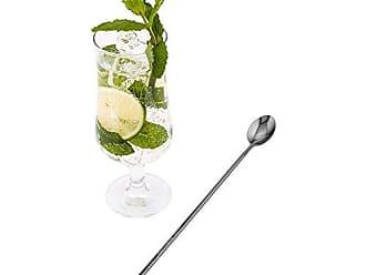 Restaurantware Muddler & Spoon - Muddler Barspoon - 12 - Professional Grade - Stainless Steel - Black Plated Mixing Spoon with Muddler Top - 1ct Box - Restaurantware