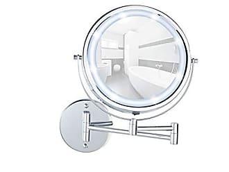 chrom Spiegelfl/äche /ø 17 cm Stahl Wandspiegel mit 3fach-Vergr/ö/ßerung 19 x 38,5 x 50 cm 300 /% Vergr/ö/ßerung Wenko Kosmetik-Wandspiegel Teleskop Exclusiv
