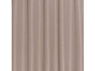 Ben&Jonah Ben & Jonah Ez-On Waffle Weave Fabric Shower Curtain with Snap Out Liner, 100% Polyester, Size 70 Wide X 75 Long, Color: Taupe Splash Collection by Ben&Jonah