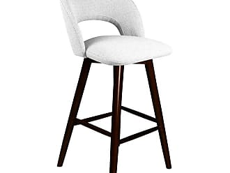 SOUTH CONE Piero 30 in. Upholstered Bar Stool with Swivel Espresso - PIEROBS30/WAL/ESPRESSO