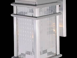 Feiss OL3401BRAL Mission Lodge Wall Mount Lantern in Brushed Aluminum finish with Clear checked glass