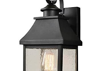 Kenroy Home 93682BL 1 Light Small Lantern Sandy Black Finish with Gold Highlights