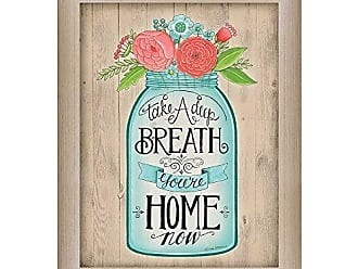 Trendy Decor 4 U Youre Home Now By Deb Strain, Printed Wall Art, Ready To Hang Framed Poster, Beige Frame