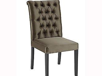 Daf Mobiliário Cadeira Antonia Capitonê Cetim Marrom - Daf Mobiliário