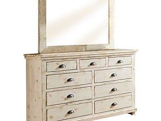 Progressive Furniture Willow Distressed Drawer Dresser, 66 x 20 x 44