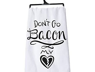 Primitives By Kathy LOL Made You Smile Dish Towel, 28 x 28, Dont Dont Go Bacon