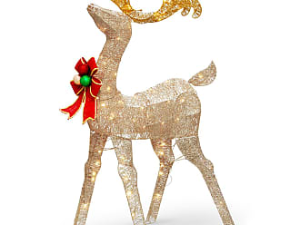 National Tree Company 48 in. Reindeer Decoration with Clear Lights - DF-070020U