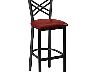 Regal Clovis 26 in. Counter Stool with Vinyl Seat Black - 2515U-26-ANODIZED NICKEL-BLACK