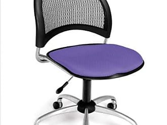 OFM Moon Series Armless Fabric Swivel Chair, Lavender