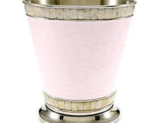 Julia Knight Classic 9.75 Waste Basket Pink Ice Bath Collection, One Size