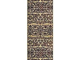 Home City Inc. Superior Sheffield Collection Area Rug, 8mm Pile Height with Jute Backing, Woven Fashionable and Affordable - 27 x 8 Runner, Gold