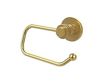 Avondale Allied Brass 924ED-PB Mercury Collection Euro Style Toilet Tissue Holder with Dotted Accents Polished Brass
