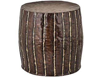 Dimond Home Copper Stool With Welded Fluteds