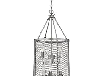 Millennium Lighting Akron 6-Light Pendant in Brushed Pewter