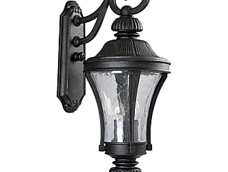 PROGRESS P5837-71 Three-light wall lantern in Gilded Iron finish with water seeded glass