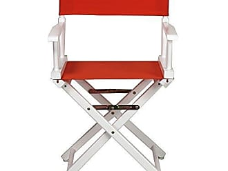 Yu Shan Casual Home 18 Directors Chair White Frame with Orange Canvas