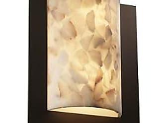 Justice Design Group Alabaster Rocks! Framed Rectangle Wall Sconce