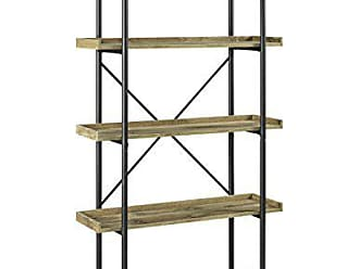 Walker Edison WE Furniture 68 Urban Pipe Bookshelf - Barnwood