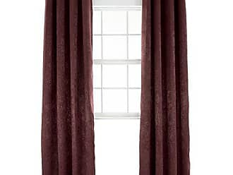 Trademark Global Black Out Curtain Panel - 84 -Mila - Bordeaux by Bedford Home