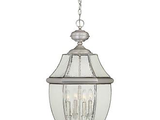 Quoizel Newbury 26.5 4-Light Hanging Lantern in Medici Bronze