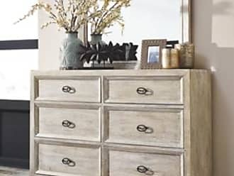 Ashley Furniture Halamay Dresser and Mirror, Gray