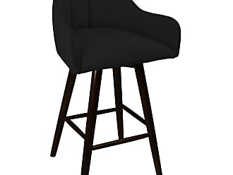 SOUTH CONE Luciano 30 in. Upholstered Bar Stool with Swivel Espresso - CIANOBS30/WAL/ESPRESSO