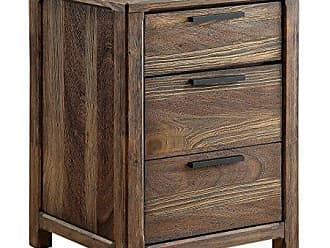 FURNITURE OF AMERICA HOMES: Inside + Out IDF-7576N Rustic Nightstand, Natural Tone