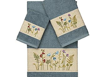 Linum Home Textiles Serenity 3Pc Embellished Towel Set, Teal