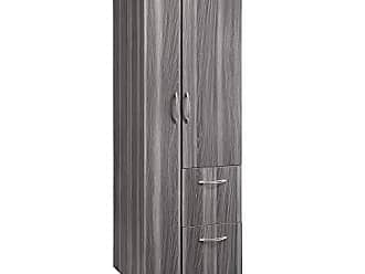 Mayline APSTLGS Aberdeen Personal Storage Tower with 2 Doors and 2 Drawers, Gray Steel Tf